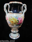 UNIQUE ANTIQUE MEISSEN PORCELAIN VASE DOUBLE SNAKE GOLD GILT Art Deco 19c.