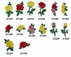 RedYellowPink Rose Flower Embroidery Iron On Applique Patch