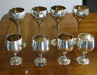 Vintage  Electroplated Nickel Silver 8 Piece Wine & Goblet Set