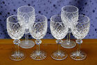 Waterford Cut Crystal Goblets Powerscourt Pattern Set of Six