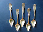 VINTAGE WILLIAM ROGERS SILVERPLATE GRAPEFRUIT  SPOONS   5 IN THE SET