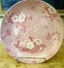 LG SPODE RED FLORAL TRANSFER CHINTZ WARE SERVING PLATE 11.5