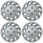 4 Piece SET Hub Cap ABS Silver 13 Inch for OEM Steel Wheel Cover Caps Covers