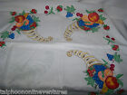 Material Cornucopia Fruit Design 4 panels Hand Painted Cotton Blend 35