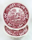 LOT 4 FINE VINTAGE COPELAND SPODE ENGLAND DINNER PLATES TOWER PINK OLDER GADROON