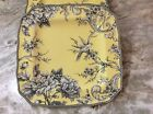 222 Fifth Square Dinner Plates. Adelaide Yellow. Set Of 4. Beautiful. New