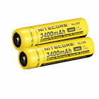 2 PACK NEW NITECORE 18650 NL189 3400 mah Rechargeable Battery Li ion Protected