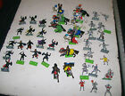Vintage Large Lot of Britains LTD Deetail 1971 Knights & Horses Over 50 Toy Pcs