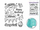 Forever in Time Clear Cling Rubber Stamp Birthday Celebration Party Fun