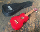 Mahalo Transparent Red Soprano Ukulele Uke With Case