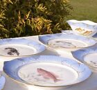 ROYAL COPENHAGEN FISH SERVICE FOR SIX PERSONS.FISH DISH SOUCE BOAT BOWL PLATES