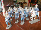 1920's WWI ERA ELASTOLIN GERMAN SOLDIERS OFFICERS AND HORSE 20 PIECES RARE LOOK