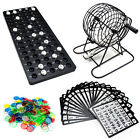 Complete Bingo Game Set with Cage, Balls, Cards, and Markers