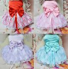 Cute Puppy Pet Dog Lace Skirt Cat Princess Wedding Dress Small Puppy Clothes