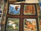 National Parks Wildlife Sequoia Canyon Tetons Quilting Panel Eagle Deer