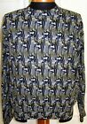 1 of a Kind Rare  Very Cool JHANE BARNES Abstract Penguin Design Pullover,Mint,L