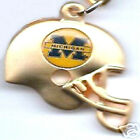 Michigan Wolverines 3D Gold Helmet Charm Necklace NCAA Licensed Jewelry