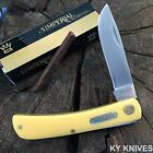 SCHRADE IMPERIAL IMP22Y Yellow Handle Folding Blade Sodbuster Pocket Jack Knife