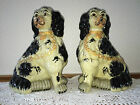 antique porcelain  pair of staffordshire dogs