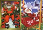 1997 Topps & NFL Santa Clause Happy Holidays Insert 2 Card Lot RARE EX Cond
