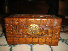 Vintage Chinese Japanese Wood Carved Trinket Box-Small Size-Detailed-LQQK