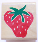 Rubber Stampede Posh Impressions Strawberry Fruit Wooden Rubber Stamp