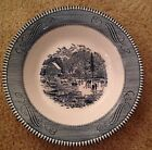 ROYAL CHINA BLUE CURRIER AND IVES SOUP BOWL EARLY WINTER PATTERN Ice Skating