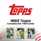 1983 Topps MLB Complete Set (792 cards) - Rare Super Sharp Set - (PSCC)