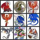 Beauty Of Dragon No ll Embroidered Iron On Patches