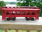 1920's KENTON LAKE SHORE AND MICHIGAN SOUTHERN CAST IRON PASSENGER CAR 10'' RARE
