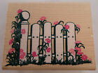 Posh Impressions Flowering Picket Fence Rubber Stampede Wooden Rubber Stamp