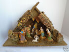 Vintage 10 Piece Creche Bisque Christmas Nativity Scene W Manager Italy