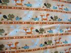 Fox Turtle and Rabbit Print Flannel Fabric 1 Yardsnuggle