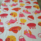 Vintage Retro Mod Pop Art Hat Fabric,Boy/Girl/Sister Brother Large Print 1-1/4yd
