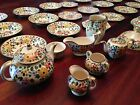 Rare 51 Pieces Beautiful 1905 hand painted Adams Titian Royal Ivory Ware England