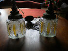 vintage Dual Glass Ceiling Lamp Lights with Chains, Cord & Ceiling Fixture