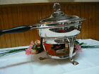 Vintage Bristol Silver Co # 55  EPCA SP Ornate Footed Warmer Chafing Dish
