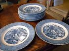 Royal China Currier & Ives set Ten 10