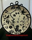 Oriental DECORATIVE Display 2 Dish/Plate set Birds Black Ink 8