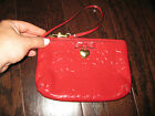 COACH~EMBOSSED~SIGNATURE~LIQUID GLOSS~WRISTLET/WALLET/CLUTH~RED~GLOSSY~49562