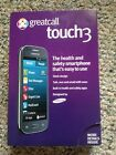 Jitterbug Samsung Touch3 No Contract Android Smartphone Gray Greatcall NIB