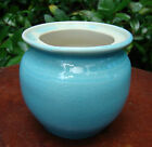 MID CENTURY VINTAGE PISGAH FOREST SUGAR BOWL TURQUOISE GLAZE W CREAM NC POTTERY