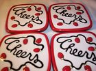 Fitz and Floyd Cheers Coasters Christmas or Patio or Campground Party  Set of 4