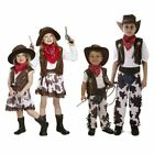 Cowboy Cowgirl Childrens Kids Boys  Girls Fancy Dress Costume Party 2 12 Years