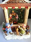 Vintage Joyful Happy Christmas Music Snow Globe Box Girl Boy Dog Gifts Toys