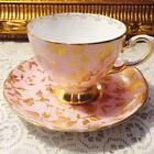 STUNNING TUSCAN PINK CUP & SAUCER SET GOLD CHINTZ MARKED & NUMBERED