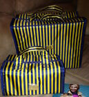 Travel Bags Beauty Cases Joy Mangano Collection NIB 2 pieces Navy and Gold