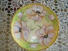 ANTIQUE LIMOGES OLD ABBEY HAND PAINTED SIGNED PLATE PURPLE  POPPIES