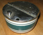 JACKSON CHINA Measuring Device Corp. Flip Top Sugar Bowl GREEN Band - 1940s