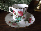 Hammersley Grandmothers Rose Tea Cup and Saucer Embossed